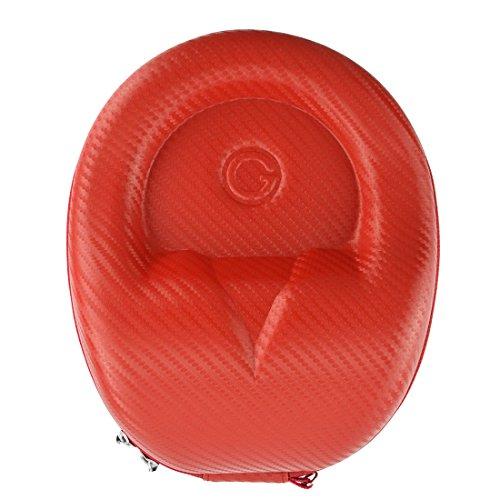 Geekria EJB63Geekria headphones case/hard shell cuffie custodia da trasporto/borsa protettiva da viaggio per Sennheiser HD598CS, ATH M50x, Sony XB900, Beats Studio e più (rosso)