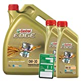 2x 1 L + 5 L = 7 Liter Castrol Edge Fluid Titanium 0W-30 Motoröl inkl. Castrol Ölwechselanhänger