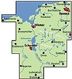 ADFC-Regionalkarte Ostseeküste Schwerin, 1:75 - 000, reiß- und wetterfest, GPS-Tracks Download: Mit Ostseeküstenradweg Travemünde - Wismar - Warnemünde (ADFC-Regionalkarte 1:75000) -