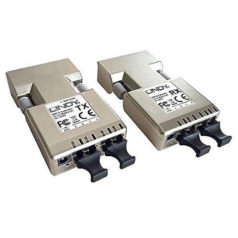 LINDY DVI-D Extender 500m Fiber/LWL 2x Duplex LC Multimode