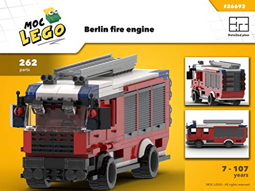 Berlin fire engine (Instruction Only): MOC LEGO (English Edition)