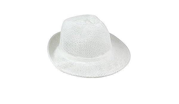 eBuyGB Unisexe 1272306/Chapeau d/ét/é Blanc Taille Unique