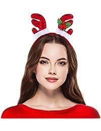 LUX accesorios de Navidad feo Sweater Mistletoe reno Papá Noel gorro de elfo