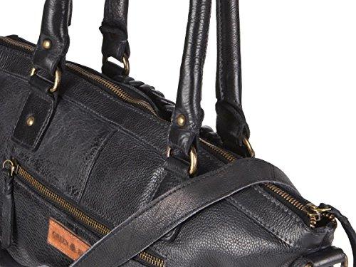 Greenburry Loops Shopper Borsa tote Demi pelle 33 cm Black