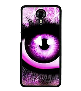 Fuson Premium 2D Back Case Cover Animated eye With yellow Background Degined For Micromax Canvas Xpress 2 E313::Micromax Canvas Xpress 2 (2nd Gen)