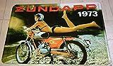 Blechschild 20x30 cm Zündapp KS50 Moped Pin up Girl Bike Werbung Metall Schild