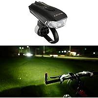 Luce della bicicletta super luminosa ricaricabile con usb -- 5 modalità, modalità intelligente di sensore luce, impermeabile, super leggero