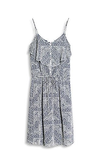 ESPRIT Damen Kleid 057ee1e017 Mehrfarbig (Off White 110)