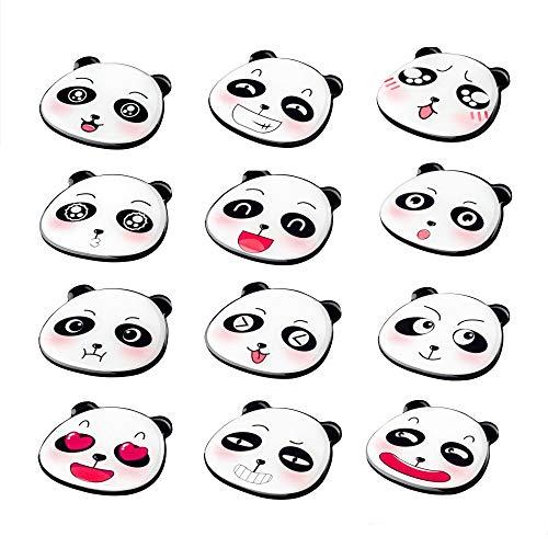 UBAOXIN Imanes Nevera, 12 Pieza Lindo Panda Fuerte Magnético Adecuado para Algunas Superficies de Metal como la Puerta del Refrigerador (Panda 12 pcs)