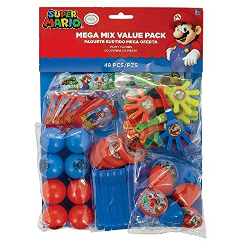 Super Mario Bros Party Mega Mix Value Favour pack - Fill your party bags with ease! by Super Mario (Dekorationen Bros Super Mario)