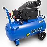 BITUXX Kompressor Druckluftkompressor Druckluftverdichter 50Liter 2PS Druck bis 8 Bar