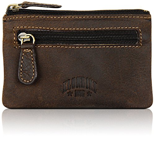 """Klondike 1896 Schlüsseletui \""""Luke\"""" aus echtem Leder, hochwertiges Echtleder Schlüsselmäppchen, dunkelbraun"""