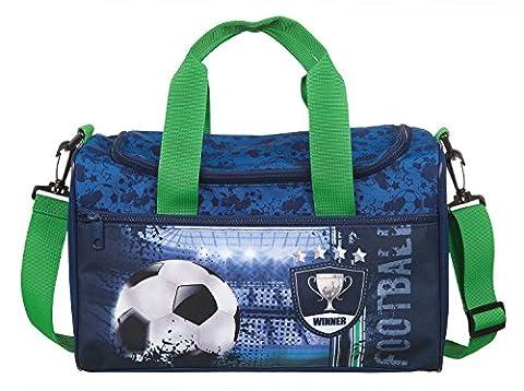 Scooli Sporttasche Football Cup, ca. 35 x 16 x 24 cm Sporttasche, 8 Liter, Blau