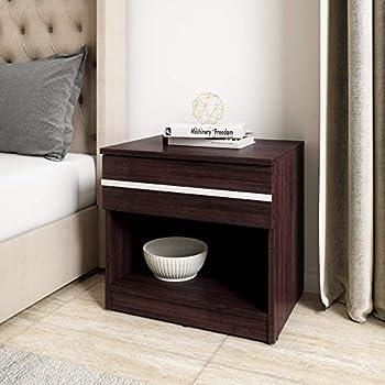 Amazon Brand - Solimo Vega Engineered Wood Bed Side Table (Espresso Finish)