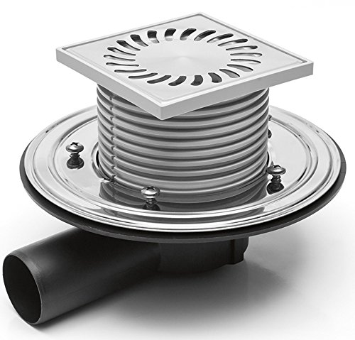 Chudej DN 50 381-B Siphon de douche acier inoxydable 122 x 122 mm