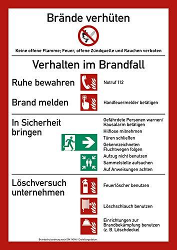 Schild PVC Brandschutzordnung (mit Brandmelder) 29,7x21 cm