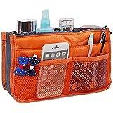 PACKNBUY Handbag Purse Switcher Travel Organizer For Cosmetics Mobile Phone Keys Card Wallet ORANGE