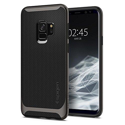 Spigen Neo Hybrid - funda Galaxy S9 con Protección flexible del diseño en espiga y marco de parachoques reforzado para Samsung Galaxy S9 (2018) - Bronce
