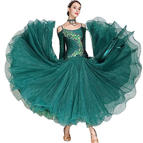 Kostüm Tänzer Zeitgenössische - Rongg Frauen Ballsaal Tanz Kleider Strapless Performance Anzug Modernen Walzer Standard Ballroom Wettbewerb Kleider BühnenKostüme, XXL