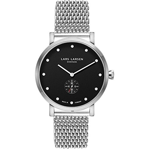 LARS LARSEN Christopher Silver/Black Mesh 41 mm Watch