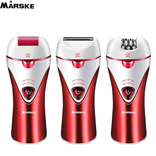 Marske Cordless Electric Hair Removal Epilator 3 in 1 Rechargeable Razors Women Bikini Trimmer Hair Removal Shaver, Safe to Use & Easy to Clean for Any Unwanted Fine Hairs