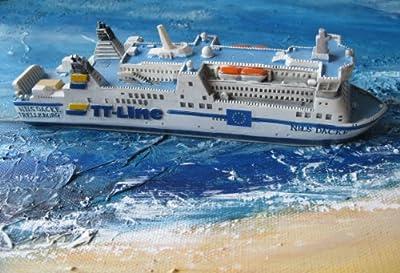Schiffsmodell MS Nils Dacke Miniatur Schiff