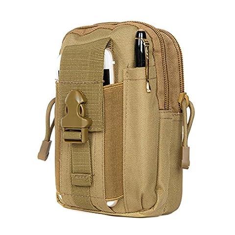 [Sport Hüfttasche] OverDose Taille Taschen Männer Outdoor Sport Casual Taille Pack Geldbörse Handy Fall für draußen, taktischen Sport, Wandern,