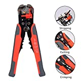Best Wire Strippers - Wire stripping pliers, Topinsun Self-adjusting Cable Cutter Crimper Review