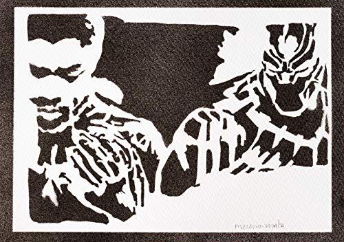 Black Panther Poster Plakat Handmade Graffiti Street Art - Artwork