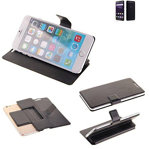 K-S-Trade Schutz Hülle für ZTE Blade V8 64 GB Schutzhülle Flip Cover Handy Wallet Case Slim Handyhülle bookstyle schwarz