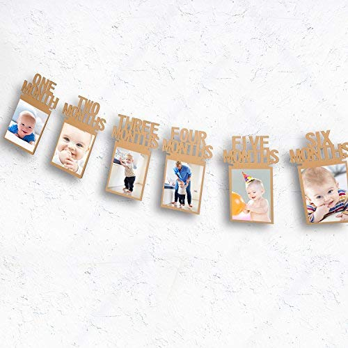 Bememo Guirnalda para fotos de beb/és de 1 a 12 meses
