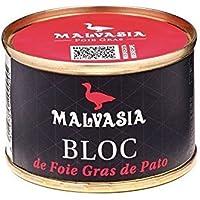 Malvasia - Bloc de Foie Gras de Pato (98 % Foie Gras) presentado en lata de 65 g,
