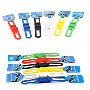 Cycling Bike Bicycle Silicone Band Flash Light Flashlight Phone Strap Tie Ribbon Mount Holder(Pack of 5)