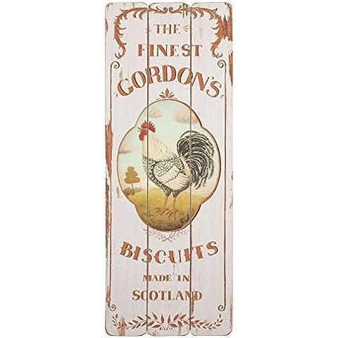 5H0071 Clayre & Eef - Cartello decorativo - The finest gordons... ca. 30 x 80 cm
