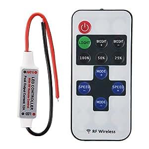 SODIAL (R)Controleur Telecommande Pour LED Lampe Monochrome Light Bande RF Remote Control