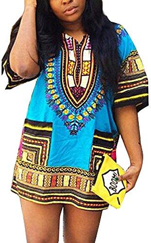 hqclothingbox Unisex Tradizionale Africana Stampa Dashiki Camicia di (Mens Dashiki)