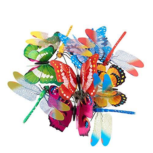 BENECREAT 40PCS Paletto di Farfalla Ornamenti da Giardino e Patio Decor per Patio Decorazioni da Giardino Decorazioni per Farfalle
