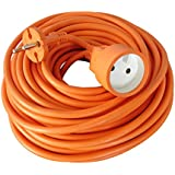 Zenitech - Prolongateur 16A HO5VVF 2x1.5 Orange 25m