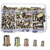 Acero al Carbono Galvanizado Tuercas de Remache Rivet Nut M4 M5 M6 M8 M10, 120 Piezas