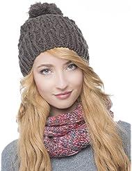Belle bonnet tricoté POMPON Bonnet Chapeau d'hiver 2013/2014 261 chapeau à pompon