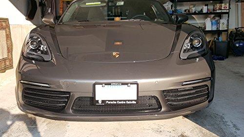 Zunsport Compatible avec Porsche 718 Boxster S and Cayman S - Ensemble calandre intégral - Finition Noir (2016 à 2018)