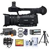 Canon Xf205caméscope haute définition Pro 1080p Zoom optique 20x, Bundle avec sac de vidéo, 32Go carte Compact Flash, trépied, batterie de rechange, filtre de 58mm Kit, kit de nettoyage, mémoire, Portefeuille