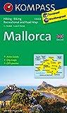 Mallorca: Wander-, Straßen- und Freizeitkarte mit Aktiv Guide und Radrouten. GPS-genau. 1:75000. Englische Ausgabe (KOMPASS-Wanderkarten)