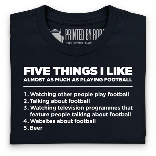 Five Things I Like - Football T-Shirt, Damen Schwarz