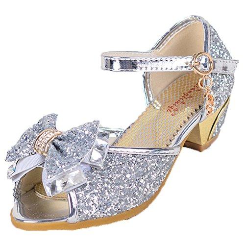 OPSUN Sandales Chuaussures princesse Enfants Filles Ballerines à bride  Chaussure Cérémonie Mariage Escarpin Babies 1564f0ce4a63