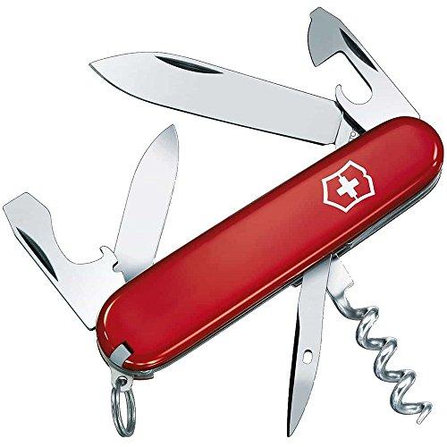 Victorinox Taschenmesser Tourist (12 Funktionen, Korkenzieher, Stech-Bohr-Nähahle) rot