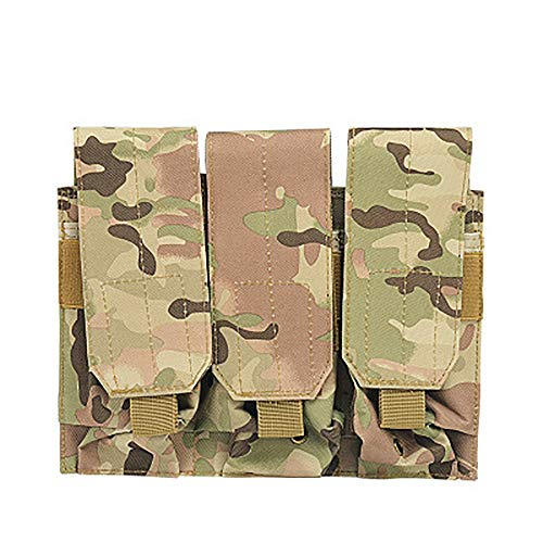 LIUYUNE,Taktische Weste MOLLE Zubehörtasche Camouflage-Clips mit drei Werkzeugen(color:CP,size:.) -