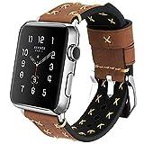 MroTech Armband kompatibel für iWatch 42mm Uhrenarmband 44mm Watch Band Leder Vintage Lederarmband...