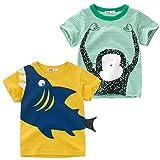 Oyoden Camisetas Manga Corta Niños Algodón Blusa Tops Bebé Verano 1-8 Años (4-5 Años(120cm), Blanco)