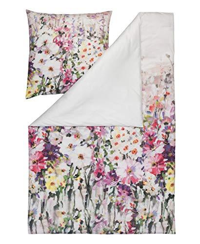 Vera-lavendel-kollektion (Estella Interlock Jersey Wende Bettwäsche Vera Farbe Lavendel Digitaldruck in 2 Größen 1x 135x200 cm 1x 80x80 cm)